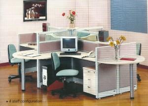 Partisi Kantor Uno 4 Staff 2