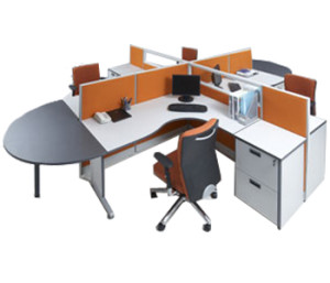 Partisi Kantor Modera 5 Series 4 Staff